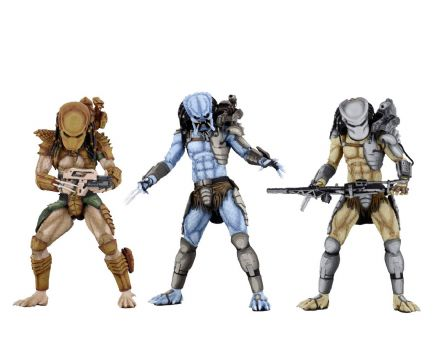 NECA Alien vs Predator Arcade Appearance Predator Action Figure 3 Pack